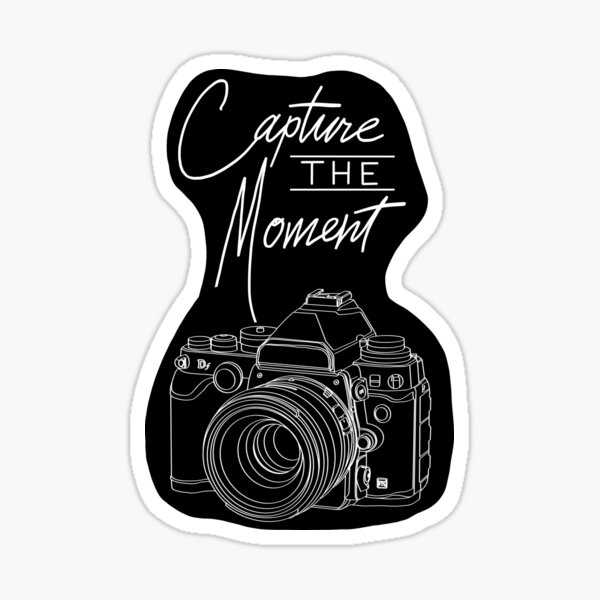 Capture The Moment Camera Photography Sticker