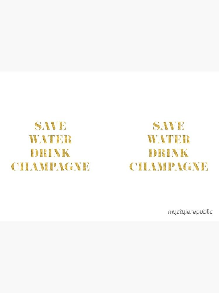 Ahorre agua Beba Champagne - Lámina de oro de imitación de mystylerepublic