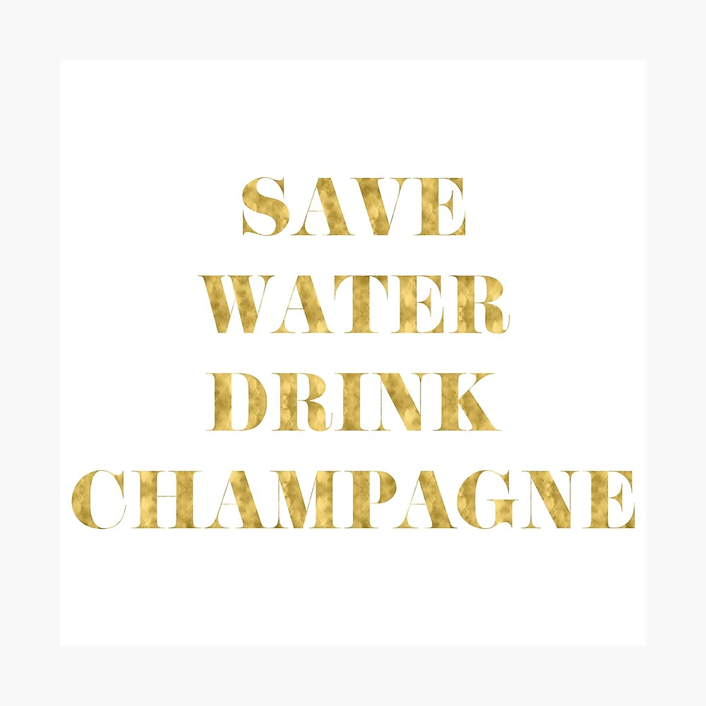 Speichern Sie Wasser-Getränk-Champagner - Imitat-Goldfolie Fotodruck