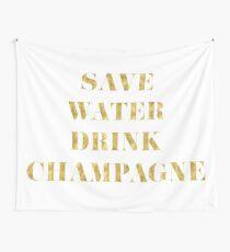Speichern Sie Wasser-Getränk-Champagner - Imitat-Goldfolie Wandbehang