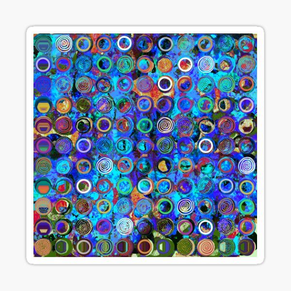 """""""Sirkel"""" 1   Fun With Circles and Dots Sticker"""