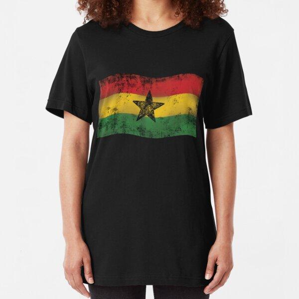 one love reggae - Fahne mit Stern Slim Fit T-Shirt