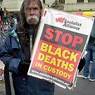 Aboriginal Protestor by Andrew  Makowiecki
