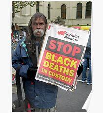 Aboriginal Protestor Poster