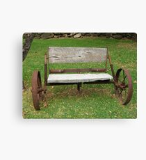 Wagon Seat Canvas Print