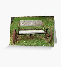 Wagon Seat Greeting Card