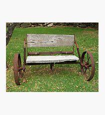 Wagon Seat Photographic Print