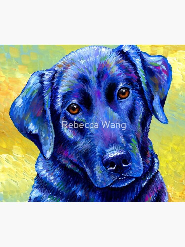 Loyal Companion -  Colorful Labrador Retriever Dog by lioncrusher