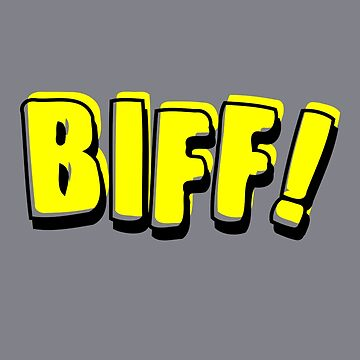 Funny Vintage Comic Book Style Sound Effect Biff by TheCreekMan