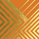 Burnt Orange and Gold Geometric Luxe by UrbanEpiphany