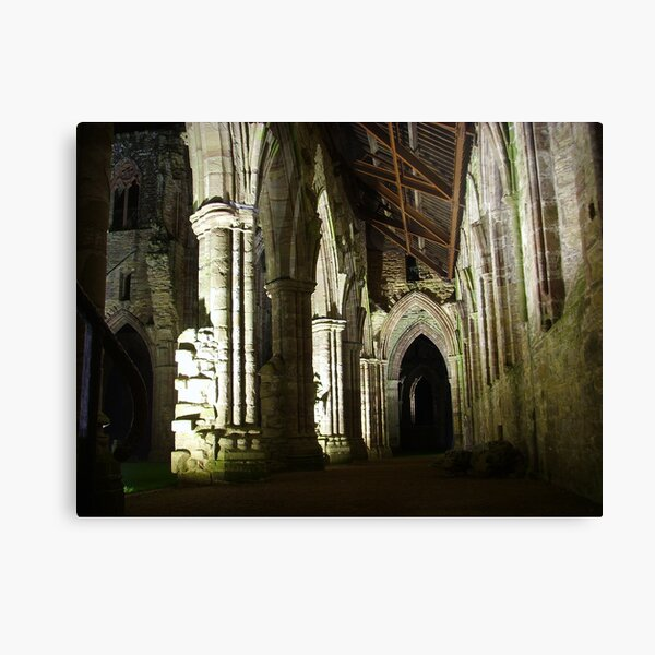 A Night at Tintern Abbey ~ Wye Valley, Monmouthshire 2009 Canvas Print