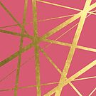 Bright Pink and Gold Geometric Luxe by UrbanEpiphany