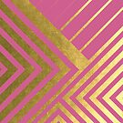 Hot Pink and Gold Geometric Luxe by UrbanEpiphany