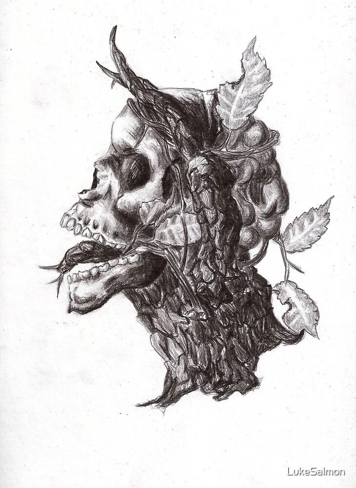 Demonic tree skull by LukeSalmon