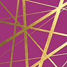 Magenta and Gold Geometric Luxe by UrbanEpiphany