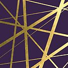 Purple and Gold Geometric Luxe by UrbanEpiphany