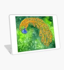 Watercolor Peacock Laptop Skin