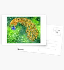 Watercolor Peacock Postcards