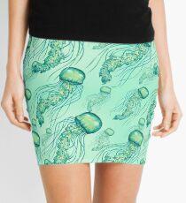 - Aquarell Jellyfish Muster - Minirock