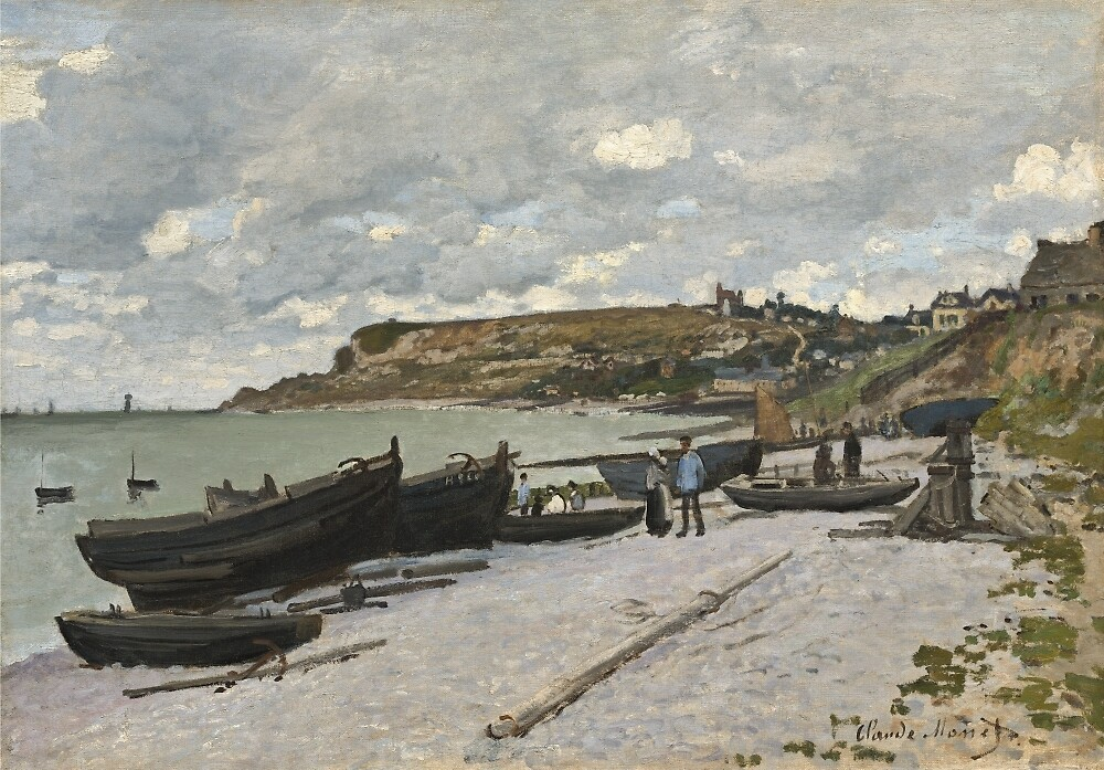 Seascape at Port-en-Bessin, Normandy by resetcorp