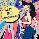 Let's Go Shopping Colorful Illustration by mysticalberries