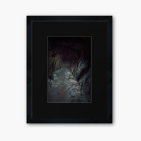 Jokers Tunnel - Find Your Own Path Framed Art Print