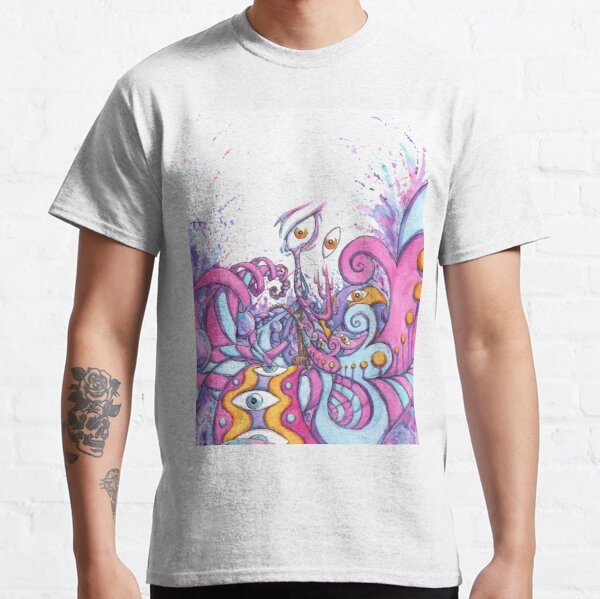 Point of View - Psychedelic Watercolor Painting Classic T-Shirt