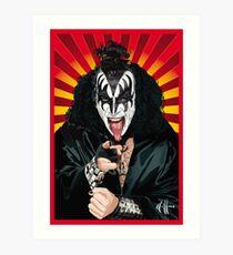 Kiss Gene Simmons vector art Art Print
