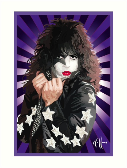 kiss paul stanley vector pop art art prints by choffmanart redbubble. Black Bedroom Furniture Sets. Home Design Ideas