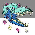 Candy Crystal Coyote Skull by HiddenStash