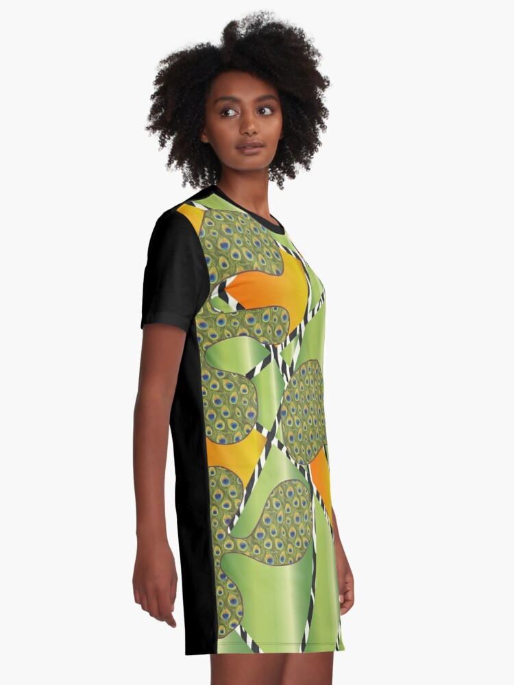 "Alternative Ansicht von Muster - Pattern ""Amöben"" T-Shirt Kleid"