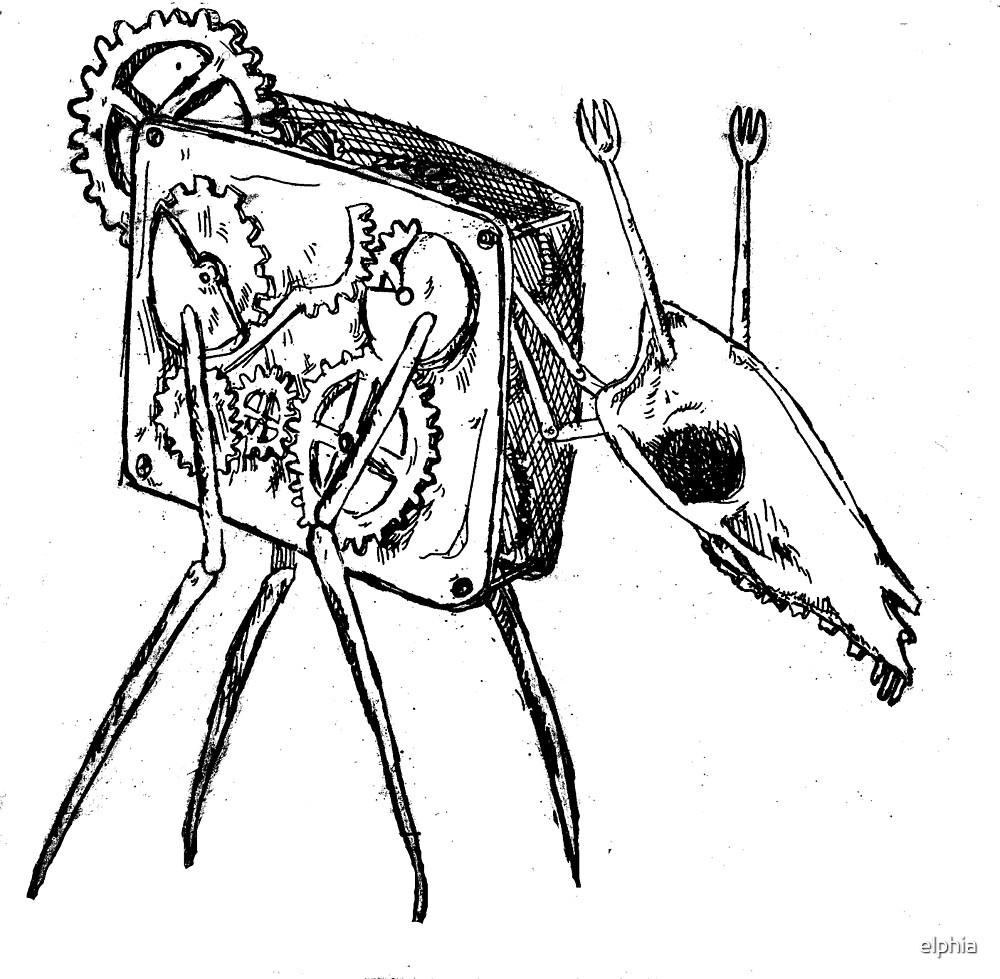 Wind-up Deer by elphia