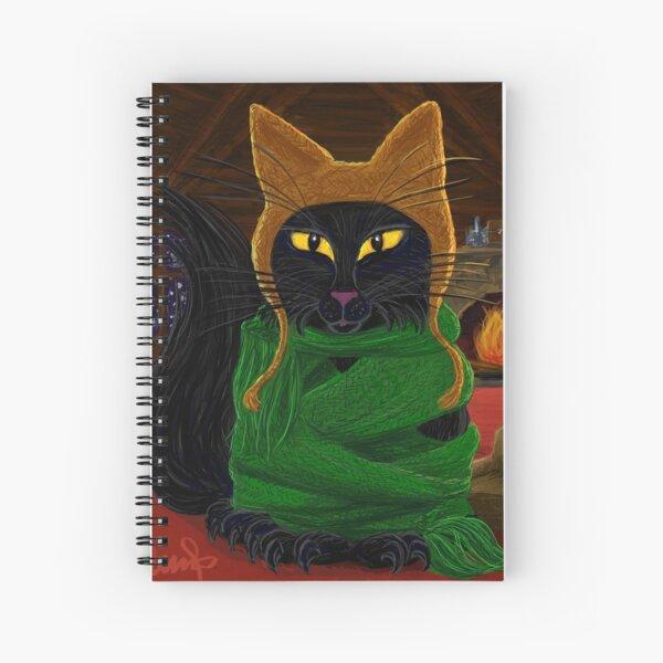 One Satisfied Yule Cat Spiral Notebook