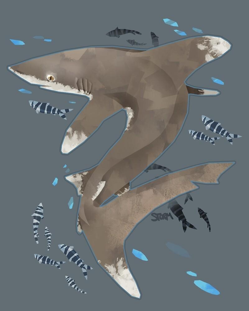 Oceanic White Tip Shark by stormful