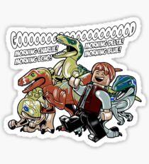 Jurassic World - Good Morning Raptors Sticker