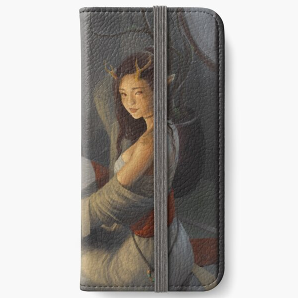 Chiharu in the moonlight iPhone Wallet
