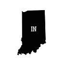 Indiana State Map Abbreviation IN by Chocodole