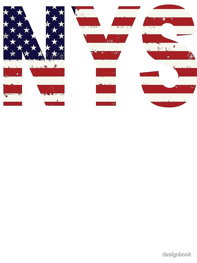 NEW YORK AMERICAN FLAG by designbook