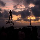 Mallory Square Sunset-Busker by JimSanders