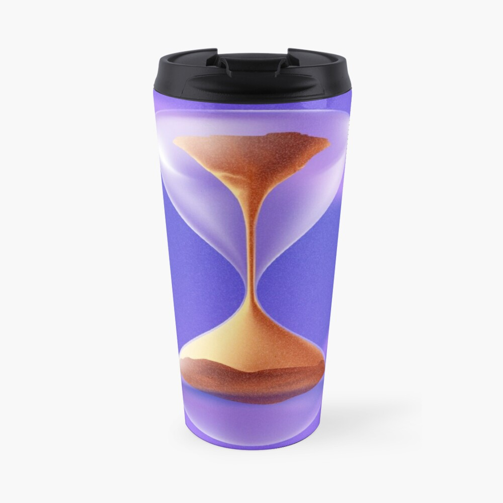 #Physics #Time #water liquid, abstract, #illustration, art, hourglass, horizontal, no people, design, colors, deadline, alertness Travel Mug