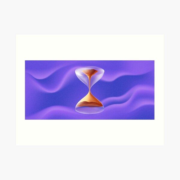 #Physics #Time #water liquid, abstract, #illustration, art, hourglass, horizontal, no people, design, colors, deadline, alertness Art Print
