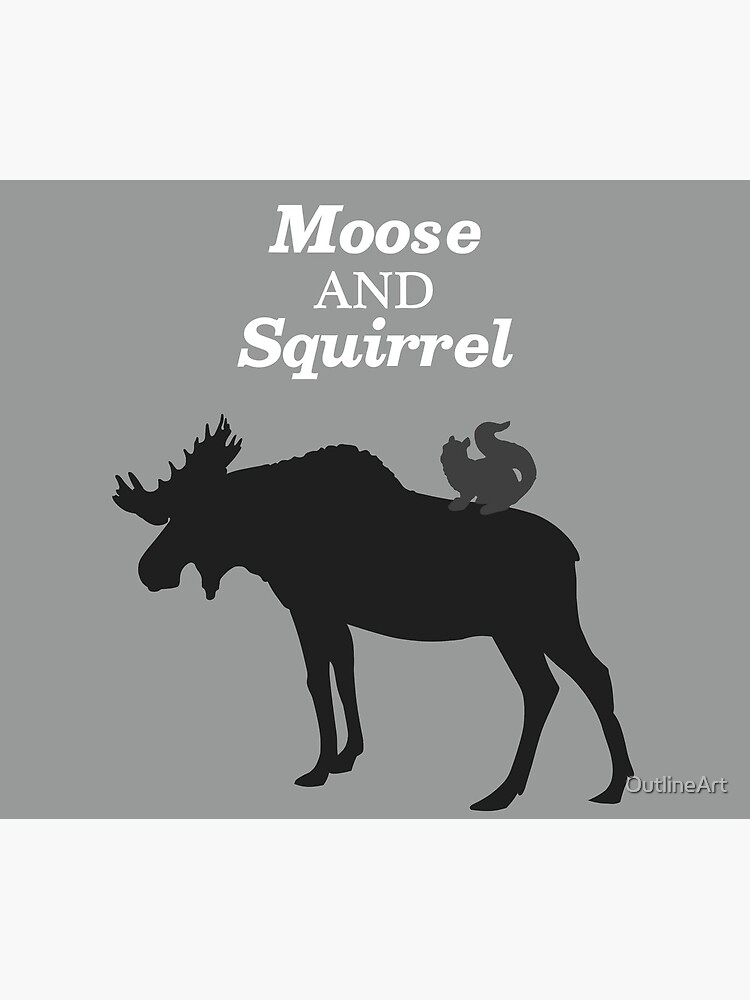 Supernatural Moose and Squirrel  by OutlineArt