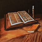 After Van Gogh: Still Life with Bible: Acrylics by RodneyCleasby