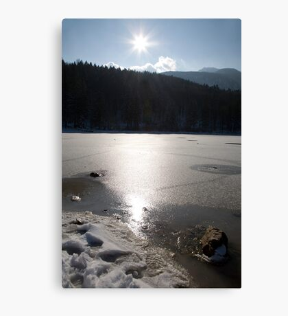 Icy reflections Canvas Print