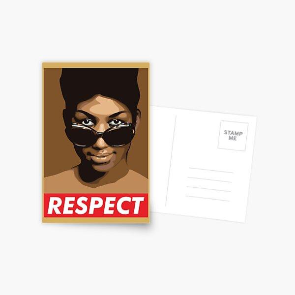 RESPECT Aretha franklin Postcard