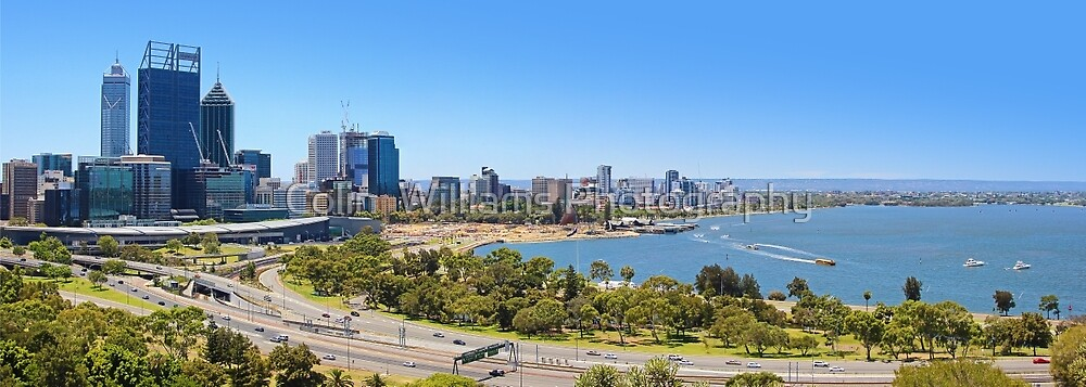 The City Of Perth WA Panorama by Colin  Williams Photography