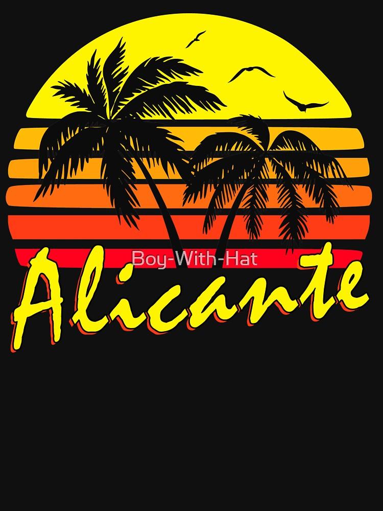 Weinlese-Sonnenuntergang Alicante Spanien von Boy-With-Hat