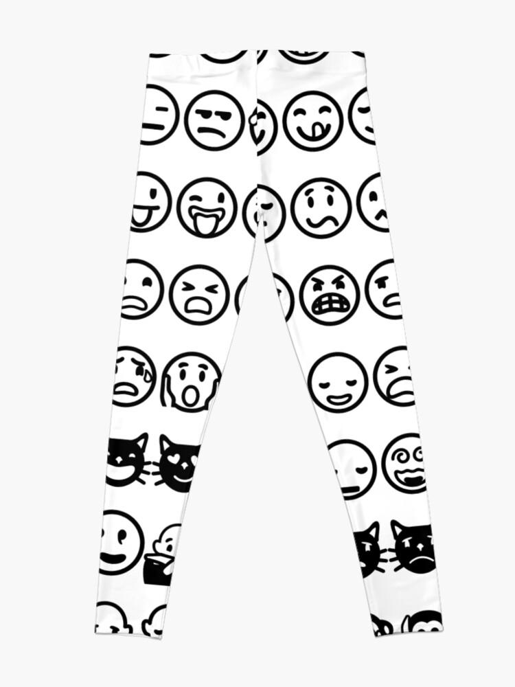 Alternate view of Emoji  絵文字えもじ  /ɪˈmoʊdʒi/ [emodʑi] emojis ideograms smileys electronic messages web pages genres Leggings