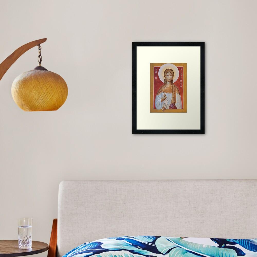 St Stephen the Protomartyr Framed Art Print