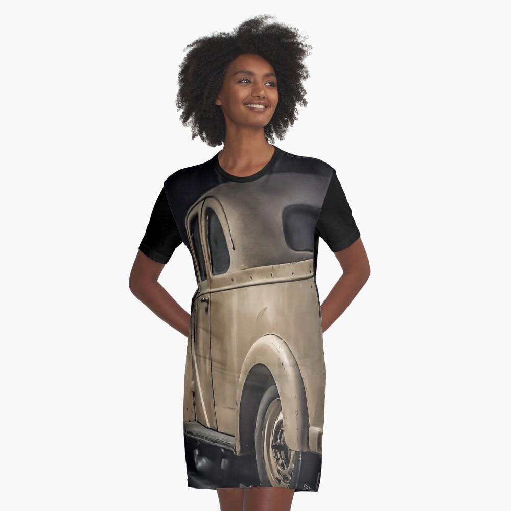Retro Oldschool Ford Prefect Graphic Design Graphic T-Shirt Dress